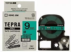 キングジム テープカートリッジ テプラPRO SC9GW 強粘着 9mm カラーラベル