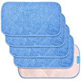 KEEPOW Microfiber Mop Cloth Refills for MR.SIGA, Double Side use, Wet & Dry Mopping, Pack of 5