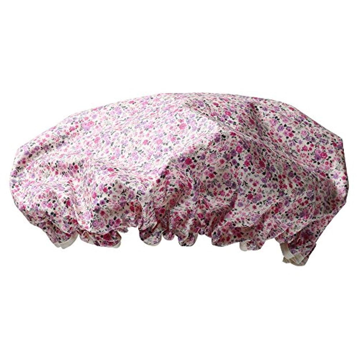 褒賞音節産地シャワーキャップ #6163-3 ピンク