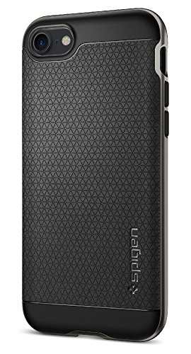 【Spigen】 iPhone7 ケース, ネオ・ハイブリッド [ 米軍MIL規格取得 二重構造 バンパー ] アイフォン 7 用 カバー (iPhone7, ガンメタル)