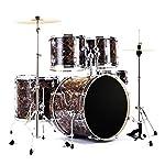 ドラム・パーカッション ドラム大人の子供のドラム初心者ドラムセット専門のテストドラムはハードウェアによって混合した木質キャビティをめっきする (Color : Brass, Size : 100*120cm)