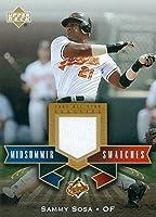 Autograph Warehouse 343368 Sammy Sosa Player Worn Jersey Patch Baseball Card - Baltimore Orioles 2005 Upper Deck All Star No. MS-SS