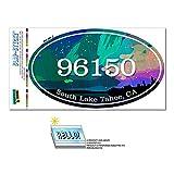 96150 南タホ湖, CA - オーロラ Borealis - 楕円形郵便番号ステッカー