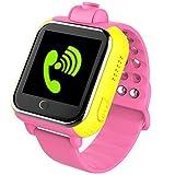 Smart Watches Best Deals - (日本規製品)子供用WCDMA 3G通話機能 腕時計SOS GPS WIFI カメラ搭載3 G Smart watch GPS Tracker kids Watch SOS GSM Mobile Phone App For IOS & Android Smartwatch Wristband(Pink)