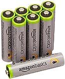 Amazonベーシック 高容量充電式ニッケル水素電池単4形8個パック(充電済み、最小容量 800mAh、約500回使用可能)