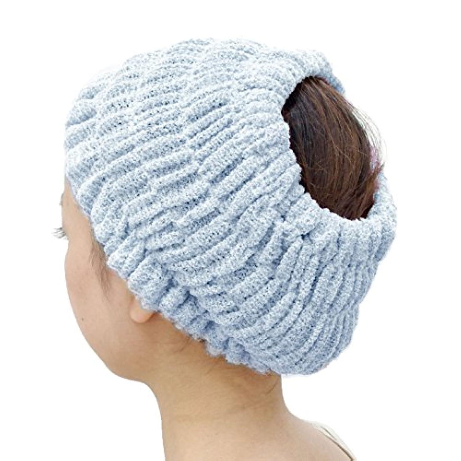 ストリームほうきビバオカ(OKA) プリスベイス エピ 乾きやすいバスヘアターバン ダークブルー フリーサイズ PLYS base epi(ターバン ヘアバンド 髪留め)