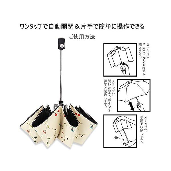 Cuby 折り畳み傘 折り畳み傘 日傘 自動開...の紹介画像7