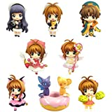 8pc /セットAnime Card Captor Sakura PVC Figures Toys木之本桜Daidouji Tomoyo Li Syaoran KeroアニメFiguresモデルコレクション