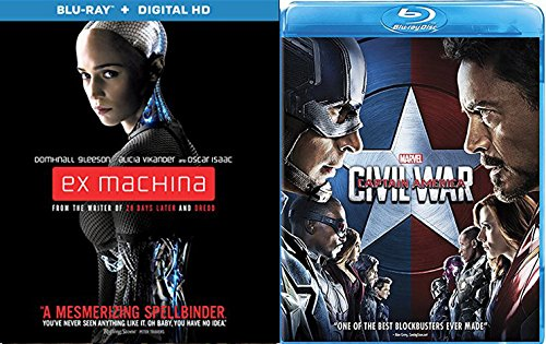 Captain America Marvel Civil War & Ex Machina Spellbinder Blu Ray Bundle Hero Set