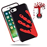 """Soundmae Case For iPhone 6/6s Plus 5.5"""" Cover Physical Color Changing Thermal Case Magical DIY Pattern Epoptic Heat-Sensitive Matte Surface TPU Back Cover for iPhone 6/6s plus - Black turn to Red"""