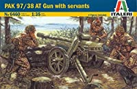 Italeri 1 : 35 WWII German Pak 97 / 38 AT Gun withクルーServantsモデルキット# 6460