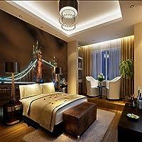 Xbwy 壁紙3Dカスタムロンドンブリッジアート写真夜景フレスコ画リビングルームレストランカフェ壁紙ホテル回廊壁画-150X120Cm