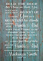 PotteLove Senior 2019 Always Stay Humble Kind Class 2019 卒業ギフト 木製サイン キャンバス 壁掛け 寮の部屋 ティーンエイジャー 誕生日