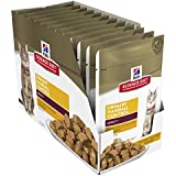 Hill's Science Diet Adult Urinary Hairball Control Chicken Cat Food, 12x85g Pouches