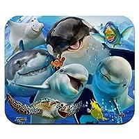海セルフシー・シャーク・イルカ・シー・タートル・スティングレイ・クラウン・フィッシュ薄型薄型マウスパッドマウスパッド