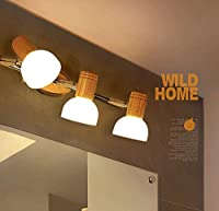 Hyun times ノルディックな木製のキャビネットライト付きの鏡フロントランプキャビネット ( サイズ さいず : 3頭 )