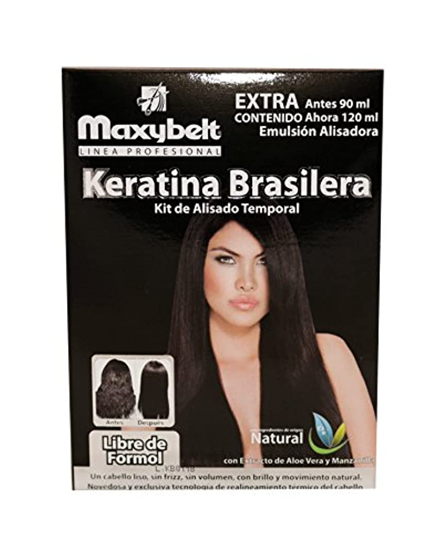 政令常識トラフィックmaxybelt Kit Keratinブラジル - 120 ml