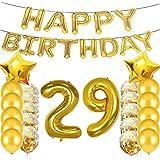 Sweet 29th Birthday Decorations パーティー用品 金色の数字 29個のバルーン 29個のアルミ箔マイラーバルーン ラテックスバルーンデコレーション 29歳の誕生日プレゼントに最適 女の子 レディース メンズ 写真撮影小道具