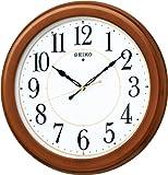 SEIKO CLOCK(セイコークロック) 木枠スタンダード電波アナログ掛時計(丸・茶) KX388B