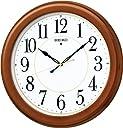 SEIKO CLOCK(セイコークロック) 木枠スタンダード電波アナログ掛時計(丸 茶) KX388B