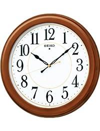 セイコー クロック 掛け時計 電波 アナログ 木枠 茶 木地 KX388B SEIKO