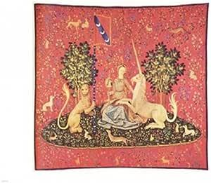 ユニコーンのタペストリーとメイデン ファインアート プリント (25.40 x 20.32 cm)