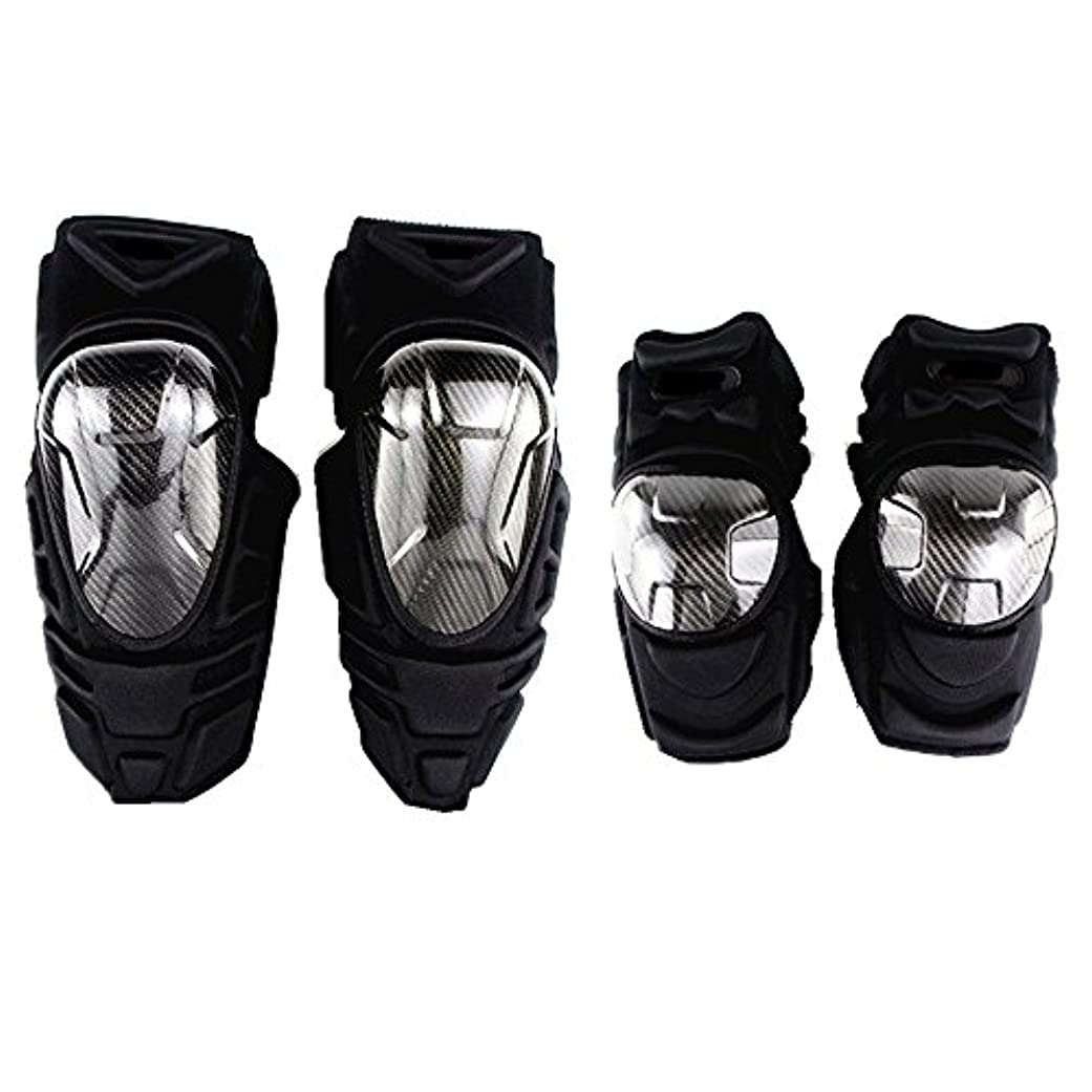 余剰耳血統膝パッドサポート、 オートバイモトクロスバイク肘と膝プロテクター保護手袋ブラックバイクスキー - 4人 登山をするスポーツのために