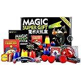 loowan おもちゃ 手品用品セット MAGIC 50種類のショー トランプ マントと杖付き