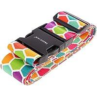 MagiDeal Luggage Belt Luggage Belt Luggage Strap-2m X 5cm, Rainbow Colors