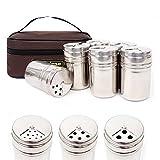 キャンプ用品 ステンレス 調味料筒(6P)+バッグセット スキャンプ食器セット