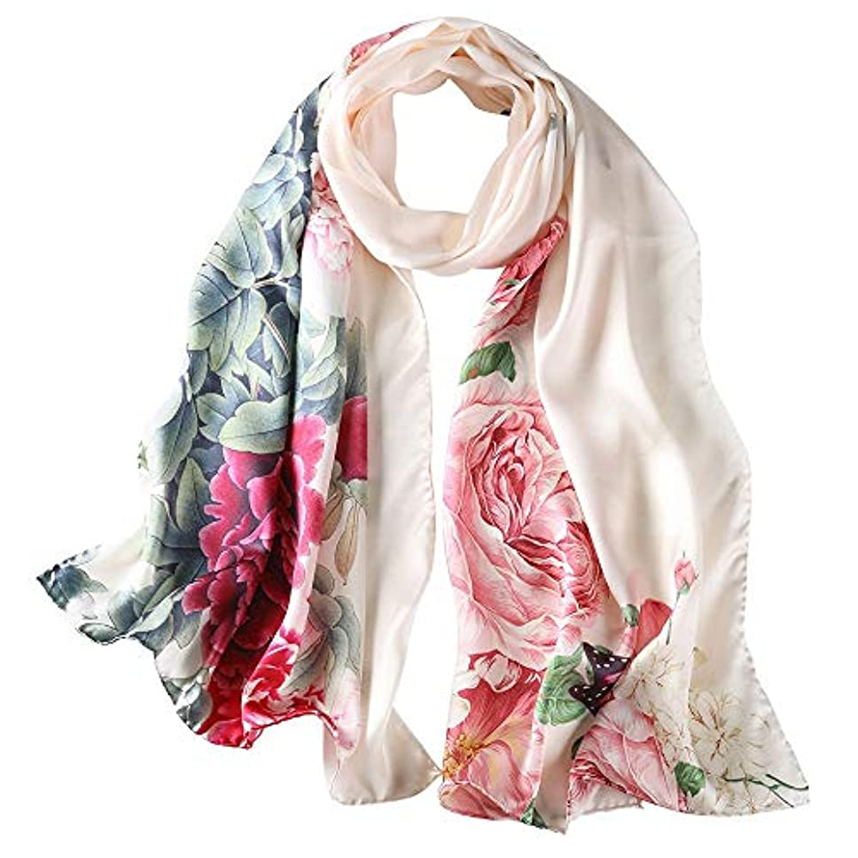壊滅的な価値のない穏やかなレディースファッションスタイリッシュなソフトスカーフショールネックラップヘッドスカーフストール (色 : H)