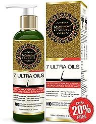 Morpheme Remedies 7 Ultra Hair Oil - (Almond, Castor, Jojoba, Coconut, Olive, Walnut, Amla Oils) - 120 ml