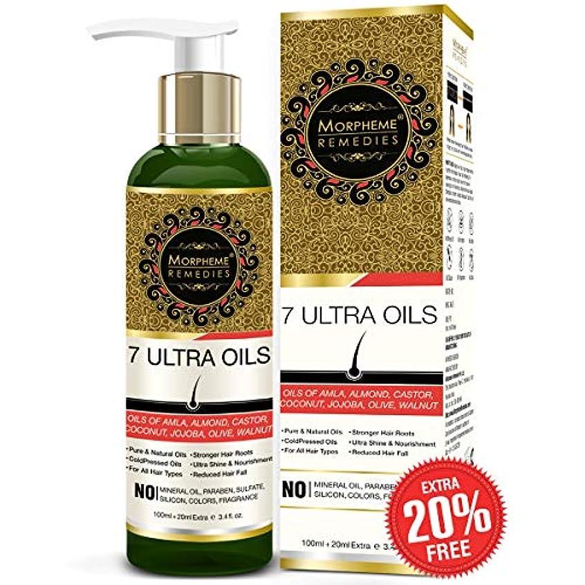宇宙前文滅びるMorpheme Remedies 7 Ultra Hair Oil - (Almond, Castor, Jojoba, Coconut, Olive, Walnut, Amla Oils) - 120 ml