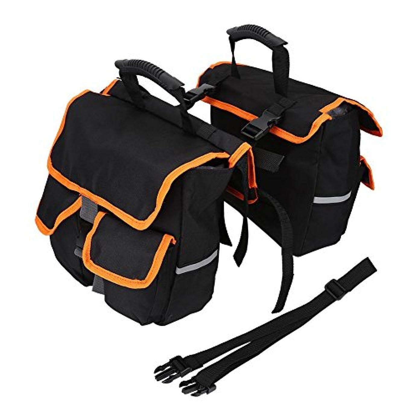 取り扱い子供時代座標自転車リアバッグ サイドバッグ サイクリング用バッグ ショルダーバッグ 防水 大容量 複数のポケット付き 小物を収納可 バイクバッグ アウトドア
