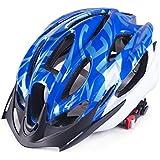 Osize メンズ女性多孔質換気マウンテンバイクヘルメットワンピース自転車ヘルメット(ブルー)