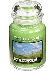 Yankee CandleグリーンGrass、新鮮な香り Large Jar Candle グリーン 1006203-YC