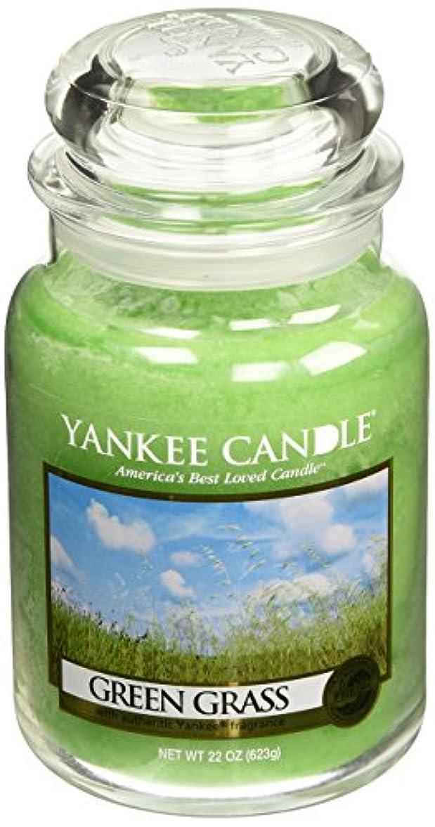 方法論確認するなんでもYankee CandleグリーンGrass、新鮮な香り Large Jar Candle グリーン 1006203-YC