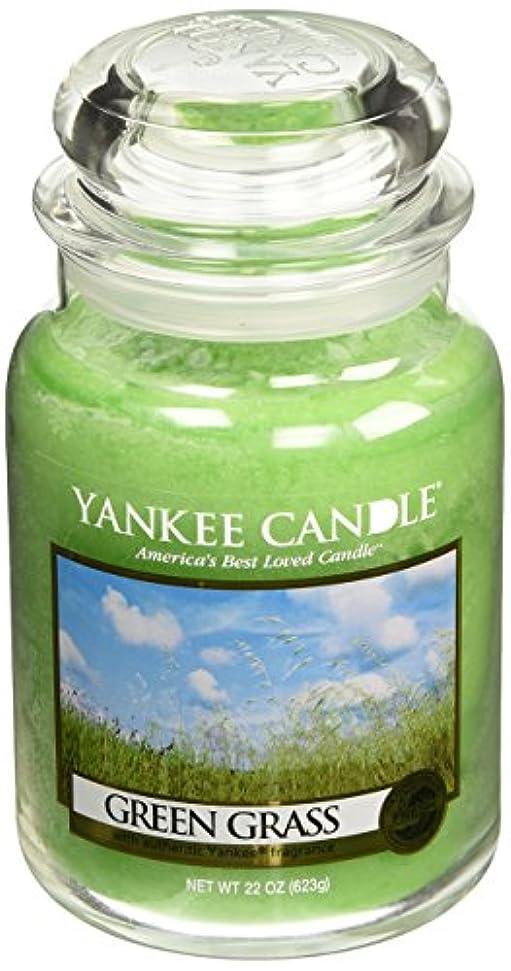 撤回する灰遺伝的Yankee CandleグリーンGrass、新鮮な香り Large Jar Candle グリーン 1006203-YC