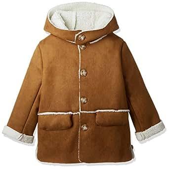 (キュアキュア) CURECURE キッズ ベビー 子供用 コート もこもこ 男の子 子供服 pコート こども こども用 ピーコート アウター 子供 上着 起毛 裏起毛 厚手 厚地 大きい 大き目 ボタン フード付き ポケット付き ジャケット 可愛い かわいい おしゃれ かっこいい ゆったり 長袖 ダウン 軽い かるい ふわふわ 暖かい あったか ブルゾン 防寒 ベージュ モカ 110 ブラウン