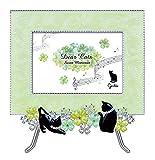 イーゼル付フォトフレーム Dear Cats Sereis(ディアキャッツ) G-4316 G(グリーン)