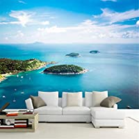 Hxcok 地中海の海辺の風景島3D壁壁画壁紙ロマンチックな快適な家の装飾壁紙Papel De Parede 3D-280X200CM