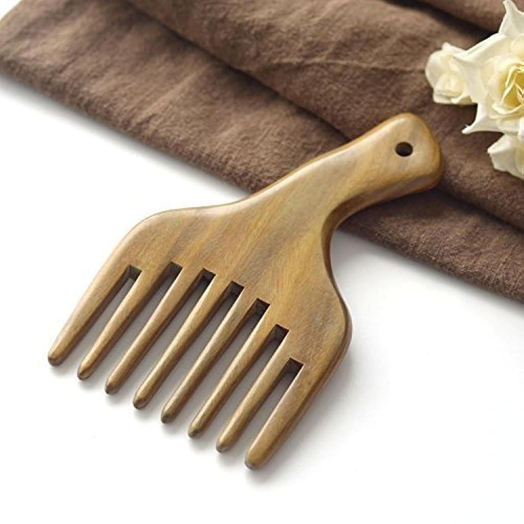 あいにくポンペイライバルEQLEF? message Comb Wooden Comb Hair Pick Wide Tooth Sandalwood Hair Comb [並行輸入品]