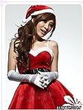 クリスマス サンタ コスプレ キュートなワンピースと帽子他4点セット
