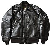 BUZZ RICKSON'S #BR80465 WILLIAM GIBSON COLLECTION ブラック MA-1 フライトジャケット ホースハイド42ワンカラー