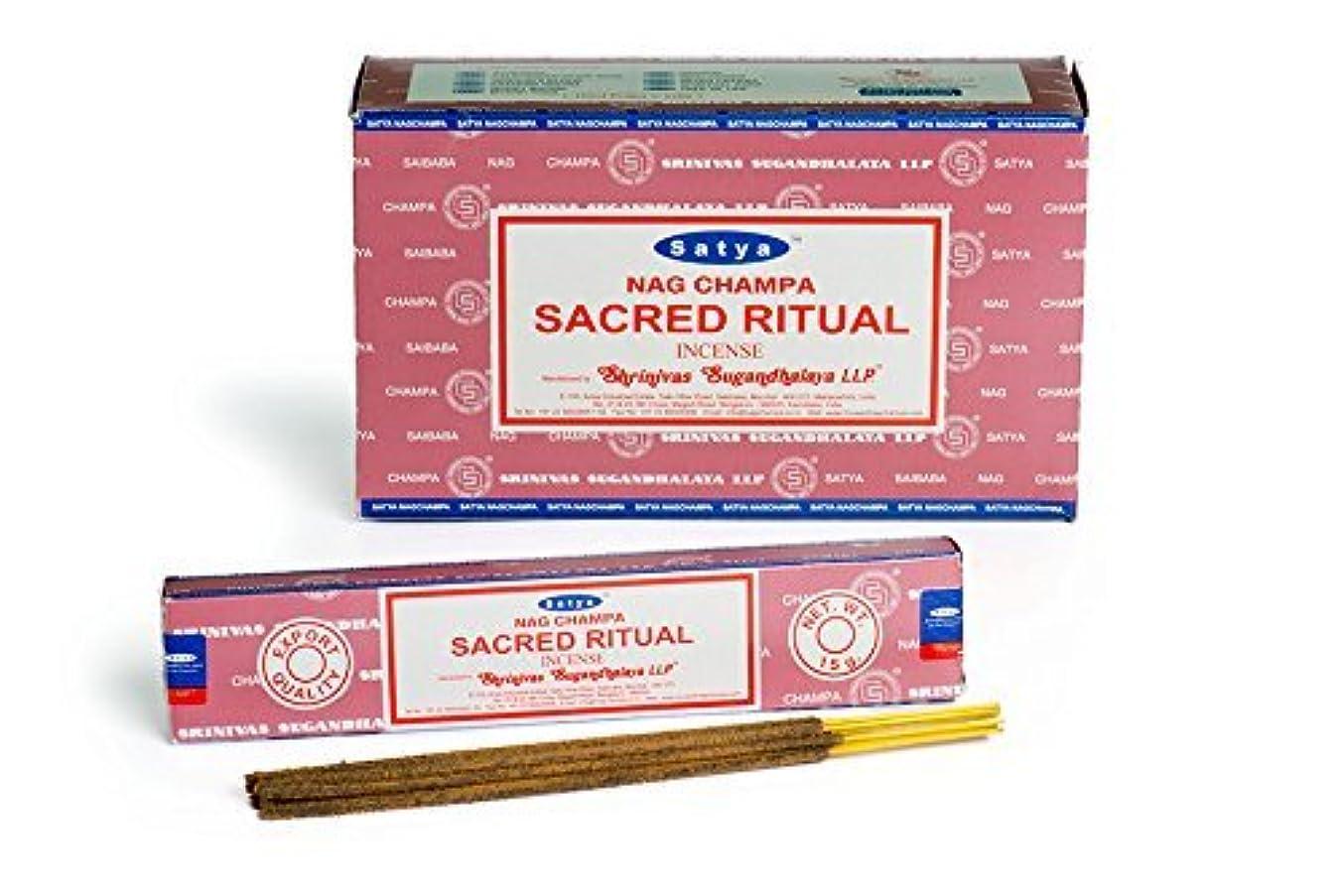仕事怠無駄buycrafty Satya Champa Sacred Ritual Incense Stick、180グラムボックス( 15g X 12ボックス)