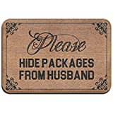 Please Hide Packages from Husband Super Absorbent Anti-Slip Mat,Coral Carpet,Carpet Door Mat,Carpet,Carpet,Door Mat,40x60 cm