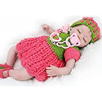 Reborn Baby Girl Dolls Soft Silicone Vinyl Doll Real Looking For Boys Girls 18inch