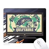 熱帯魚のココナッツ ノンスリップラバーマウスパッドはコンピュータゲームのオフィス
