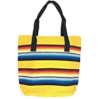 Authentic Serape Tote Bags with Zipper in Vibrant Southwest Colors, Large