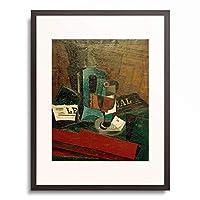 フアン・グリス Juan Gris 「Syphon, verre et journal (Syphon, Glas und Zeitung), 1916.」 額装アート作品